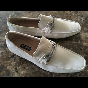 NEW MEN'S SUEDE LOAFERS OFF-WHITE